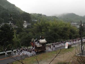 大沢神社曳行