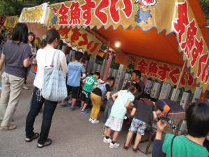 岸和田、夜店、神社